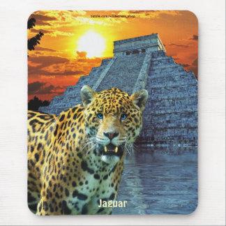 斑点を付けられたジャガー及びChichen Itzaの寺院の芸術のマウスパッド マウスパッド