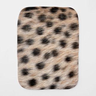 斑点を付けられたチータの毛皮または皮の質のテンプレートを黒くして下さい バープクロス