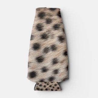斑点を付けられたチータの毛皮または皮の質のテンプレートを黒くして下さい ボトルクーラー