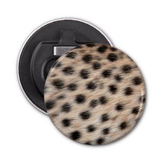 斑点を付けられたチータの毛皮または皮の質のテンプレートを黒くして下さい 栓抜き