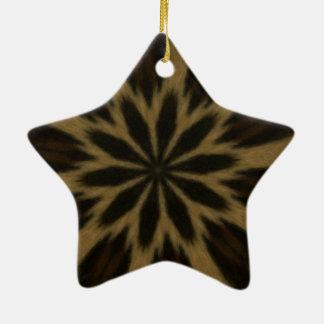 斑点を付けられたヒョウの万華鏡のように千変万化するパターン セラミックオーナメント