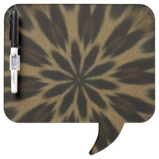 斑点を付けられたヒョウの万華鏡のように千変万化するパターン ホワイトボード