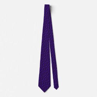 斑点を付けられたヒョウの紫色の万華鏡のように千変万化するパターン カスタムネクタイ