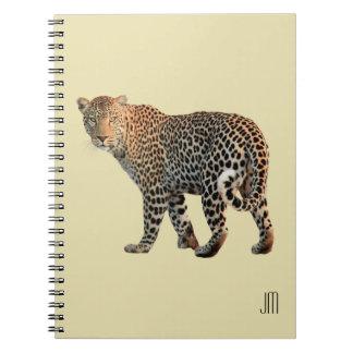 斑点を付けられたヒョウ野生猫の写真 ノートブック