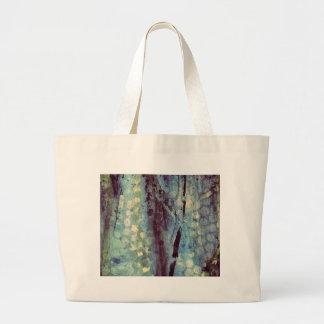 斑点を付けられた抽象芸術 ラージトートバッグ
