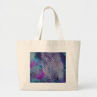 斑点を付けられた点々のあるで抽象的なおもしろい ラージトートバッグ