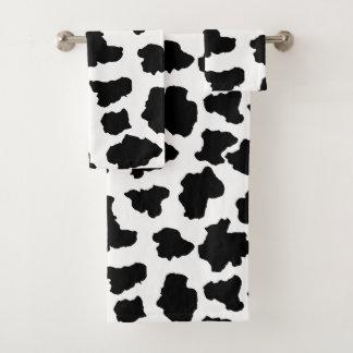 斑点を付けられたMoo牛オランダのホルスタイン動物の点 バスタオルセット