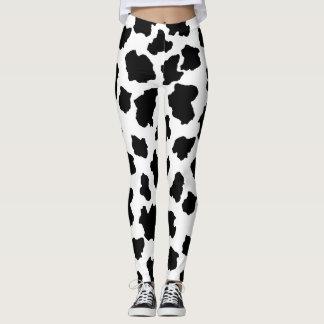 斑点を付けられたMoo牛愛らしいオランダのミルクの女中ホルスタイン レギンス