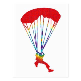 斑点を付けられる空の飛び込み ポストカード