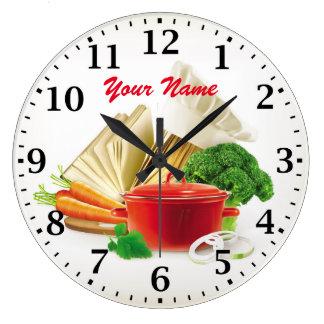 料理の台所Personalizableの柱時計 ラージ壁時計