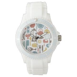 料理アイコンが付いているパターン 腕時計