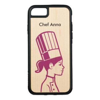 料理用のパン屋のケーキの装飾者のシェフ CARVED iPhone 8/7 ケース