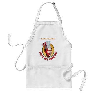 料理-名前入りなバラック・オバマ--を得よう スタンダードエプロン