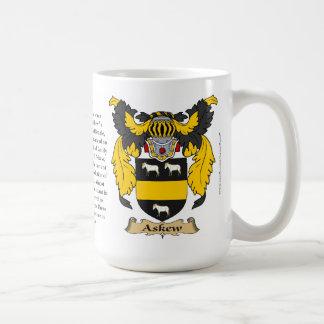 斜めに、起源、意味および頂上 コーヒーマグカップ