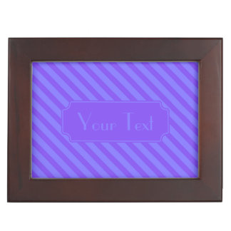 斜めのすみれ色の紫色のストライプ 宝石箱