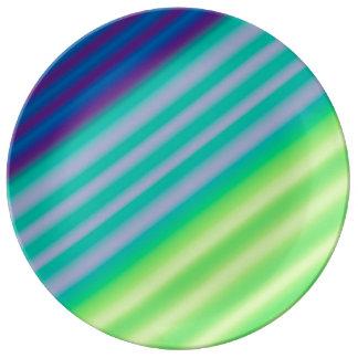 斜めのコントラストの磁器皿 磁器プレート