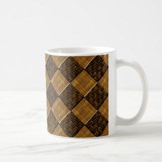 斜めのチェック模様のタケArt.multipleプロダクトse コーヒーマグカップ