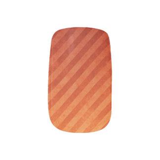 斜めのブラッドオレンジのネイルのデカール ネイルアート