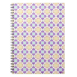 斜めのモザイク・タイルのノート ノートブック