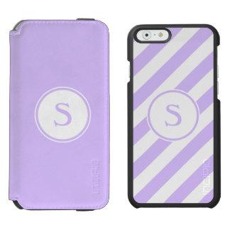 斜めのモノグラムのラベンダーIncipioワトソンを縞で飾ります Incipio Watson™ iPhone 5 財布型ケース