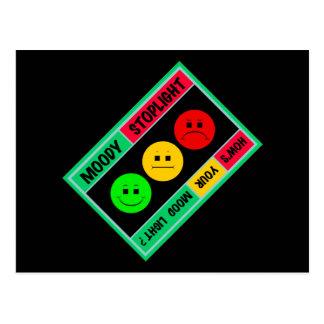 斜めの不機嫌な信号のロゴ ポストカード