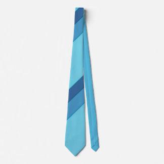 斜めの広い青い縞のタイ オリジナルネクタイ