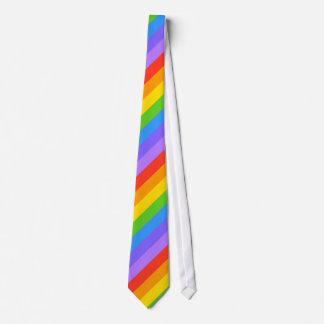 斜めの虹のストライプなパターン カスタムタイ