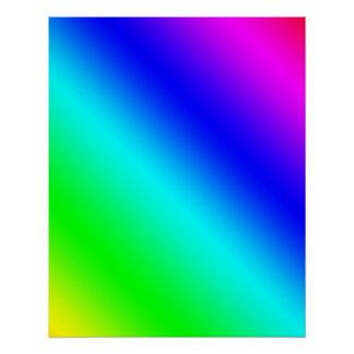 斜めの虹の勾配 ポスター