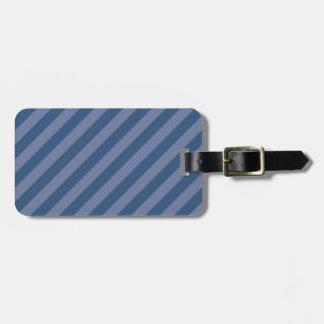 斜めの青い縞 ラゲッジタグ