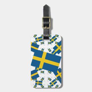 斜め多数の層のスウェーデンの旗 ラゲッジタグ
