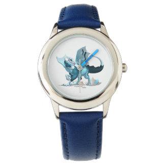 斜面のステンレス鋼の腕時計かドラゴン 腕時計