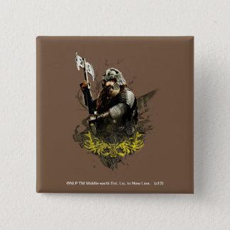 斧のベクトルコラージュとのGimli 5.1cm 正方形バッジ