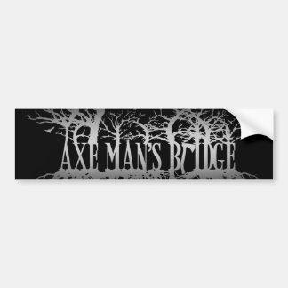 斧の人の橋Katt Karterの木のロゴのステッカー バンパーステッカー