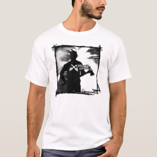 斧の殺人者のチェーンソーのグラフィックのワイシャツ Tシャツ