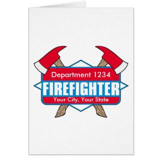 斧を持つカスタムな消防士 カード