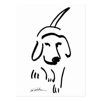 断固としたなビーグル犬 ポストカード
