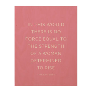 断固としたな女性の感動的な引用文のピンクの壁の芸術 ウッドウォールアート
