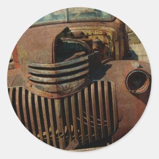断念された古いトラック ラウンドシール