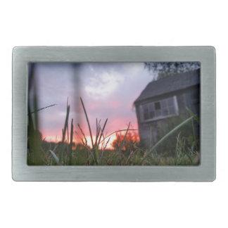 断念された日没-元の写真撮影 長方形ベルトバックル