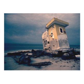 断念された海岸の構造の郵便はがき ポストカード
