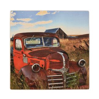 断念された農場が付いている錆つくオレンジごまかしのトラック ウッドコースター