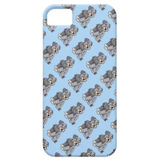 断片的なミニチュア・シュナウツァーの青い電話箱 iPhone SE/5/5s ケース