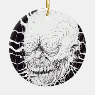 断絶されたゾンビの恐怖頭部の芸術 セラミックオーナメント