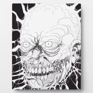 断絶されたゾンビの恐怖頭部の芸術 フォトプラーク