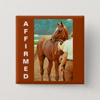 断言された純血種の競馬馬1978年 5.1CM 正方形バッジ