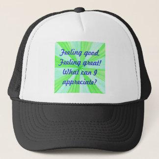 断言の帽子素晴らしい感じること、よい感じること キャップ