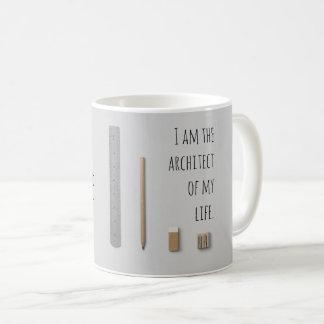 断言私は私の生命の建築家です コーヒーマグカップ