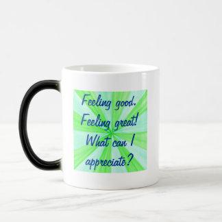 断言素晴らしい感じること、よい感じることは襲います マジックマグカップ