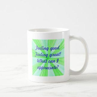断言素晴らしい感じること、よい感じること コーヒーマグカップ