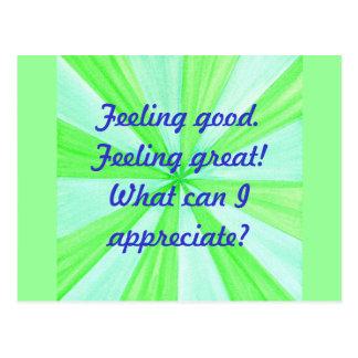 断言素晴らしい感じること、よい感じること ポストカード